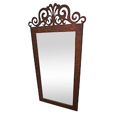 "73""H Huge Metal Iron Frame Wall Mirror Home Decor Mid Century Modern Art Deco"