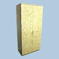 Fine Contemporary Modern Lacquer Lucite Armoire Wardrobe Chest Bookcase Cupboard