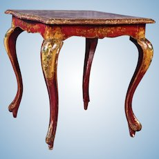 Italian Handpainted Square Low Side End Table Nightstand Chest Dining Vintage