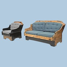 Rare Rustic Country Couch Lounge Chair Sofa Chaise Armchair Loveseat Chaise