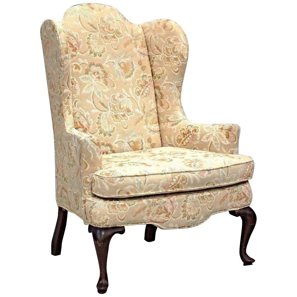 Enjoyable Woodmark Originals Queen Anne Style Wing Back Armchair Chair Side Floral Vintage Gmtry Best Dining Table And Chair Ideas Images Gmtryco