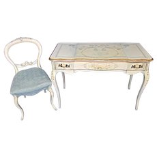 Venetian Handpainted Vanity Table Ladies Desk Chair Console Side End Sofa Mirror