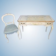 Venetian Handpainted Vanity Table Ladies Desk Chair Console Side End Sofa Mirror