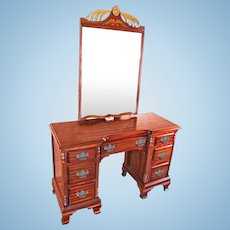 Chippendale Mahogany Vanity Writing Table Desk Console Bedroom Set Side End