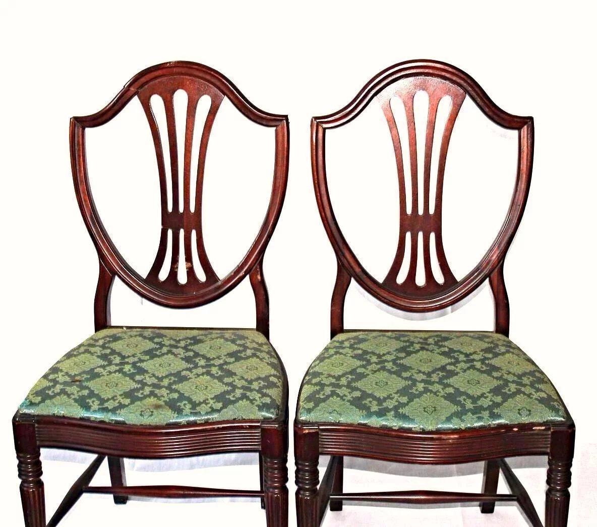 Fine Dining Chairs: Fine Sheraton Dining Set Chairs Table Breakfront China