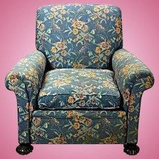 Fine 19th Century Antique Lounge Club Chair Armchair Sofa Chaise Loveseat Settee
