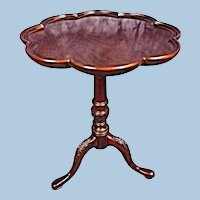 Fine Mahogany Queen Anne Style Candlestand Table Side End Coffee Vintage Antique