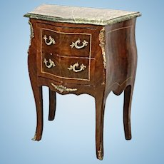 Louis XV Marble Top Commode Chest Console End Side Table Sideboard Buffet French
