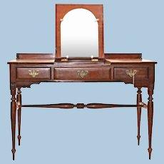 Rare Monitor Furniture Cherry Chippendale Poudre Table Dresser Antique Desk