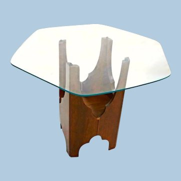 Harvey Probber Glass Top Side Table Mid Century Modern Sofa Coffee End Lamp