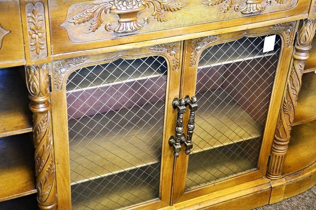 Credenza Definition In English : Carved antique english credenza buffet cabinet sideboard server