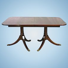 Fine Sheraton Style Mahogany Extension Dining Table Coffee Side Antique Vintage