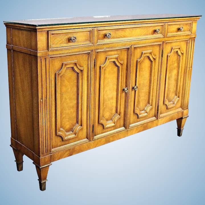 Fine Weiman Furniture American Mirror Top Console Sideboard Buffet Treasure Island Interiors Llc Ruby Lane