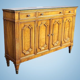 Fine Weiman Furniture American Mirror Top Console Sideboard Buffet Cabinet Chest