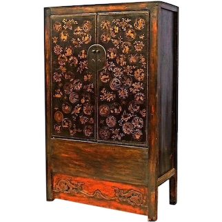 Early Chinese Armoire Lacquer Cabinet Chest Cupboard Sideboard Asian Antique
