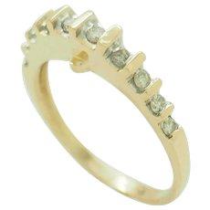 1980's Vintage 14K Yellow Gold 0.25ctw H-SI2 Round Diamond Wedding Band Ring 7.25