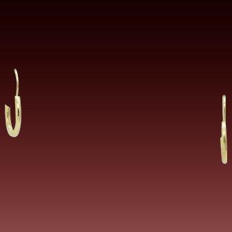 Solid 14K Yellow Gold Mini Baby Hoop Leverback Earrings
