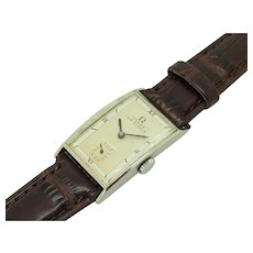 Vintage 1936 OMEGA Fab Sussie S. Steel Hand-Winding 20mm Brown Leather Men Watch