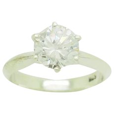 1990's Vintage Sterling Silver/925 1.28ct Round Cut Cubic Zirconia Solitaire Engagement Ring 5