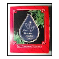 Hallmark Ornament - First Christmas Together - Dated 1986