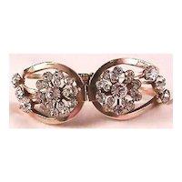 Gorgeous Clamper Bracelet with Rhinestones