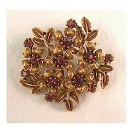 Vintage Coro Pin with Amethyst Stones