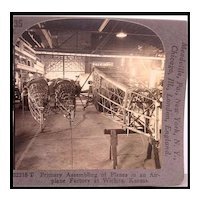 Assembling Fusilages of Airplanes in a Wichita Kansas Factory - Keystone Stereo View