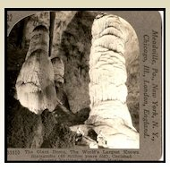 The Giant Dome in Carlsbad Caverns - Keystone Stereo View