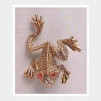 Frolicking Frog Pin
