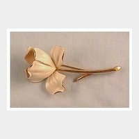 Monet Enameled Flower Pin