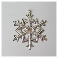Gorham 1989 Sterling Snowflake Ornament with Gold Filled Date