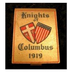 Knights of Columbus 1919 Matchbook Holder