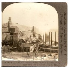 Joplin, Missouri Zinc and Lead Mines Keystone Stereo View