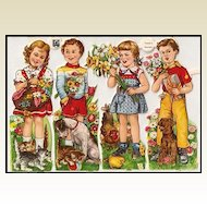 Vintage German Die Cuts of Children