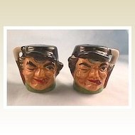 Character Jug Type Salt and Pepper Shakers