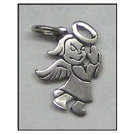 Vintage Sterling Angel Charm
