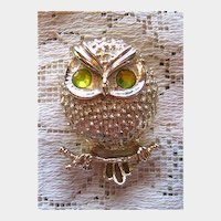 Sara Coventry Owl Bird Pin