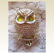 Sara Coventry Owl Bird Pin