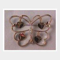 Striking Silver-tone Butterfly Pin by Art