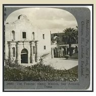 ALAMO Mission, San Antonio, Texas - Keystone Stereo View