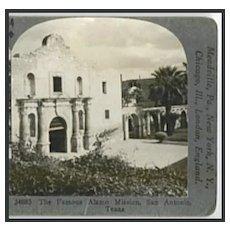 RESERVED --ALAMO Mission, San Antonio, Texas - Keystone Stereo View