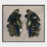Juliana Silver-tone Clip Earrings with Margarita Stones