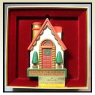 Hallmark Yesteryears House Ornament - 1977 Tree-Trimmer Collection