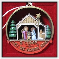 Hallmark Nostalgia Collection Nativity - 1977 Hallmark Ornament