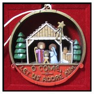 Hallmark Nostalgia Collection Nativity - 1977 Hallmark Ornament