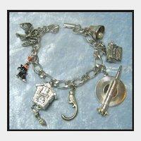 Charm Bracelet with Mechanical Cuckoo Clock