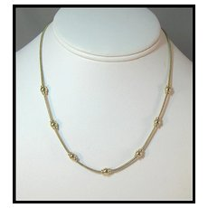 Dainty Napier Gold-tone Necklace
