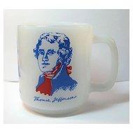 Glasbake Mug with Three Famous Americans