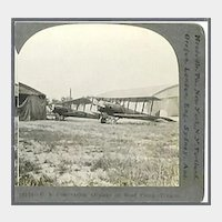 Keystone Stereo View of U. S. Observation Airplane