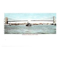 Vintage Brooklyn Bridge Post Card